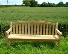 Aldeburgh Deluxe Curved Back |6ft Teak Bench  |C&T Teak | Sustainable Teak Garden Furniture |Curved top chunky bench Suffolk |Aldeburgh 9