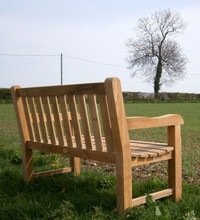 southwold deluxe straight back 4ft teak bench