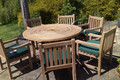 Turnworth 150cm Ring Table with Southwold Arm Chairs C&T Teak | Sustainable Teak Garden Furniture