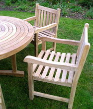 ring table with arm chairs C&T Teak | Sustainable Teak Garden Furniture