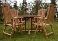 ring table with folding chairs|C&T Teak | Sustainable Teak Garden Furniture | Ring table | Suffolk