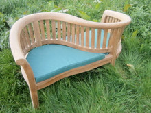 Teak Banana Love Seat with cushions  C&T Teak | Sustainable Teak Garden Furniture