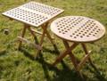 50cm Folding Teak Picnic Table