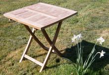 70cm Folding Teak Picnic Table   Square