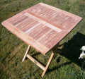 70cm Folding Teak Picnic Table | Square