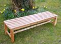 Southwold 6ft Teak Deluxe Backless Bench C&T Teak   Sustainable Teak Garden Furniture