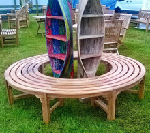Round Backless Deluxe Tree Bench 220/120cm
