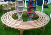 Round Backless Deluxe Tree Bench 250/150cm