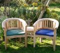 Teak Banana Companion Seat with Cushions