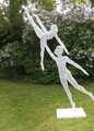 Ballerinas -  welded wire statue