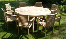 ring table with stacking chairs