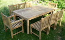 rectangular table with arm chairs