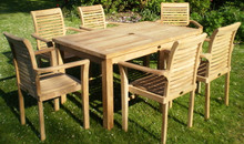 rectangular table with stacking chairs