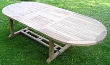Oval Extending Double Leaf Teak Table 200-300 x 120cm