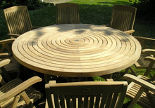 Turnworth 180cm Teak Ring Table with Integrated Lazy Susan