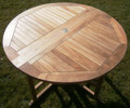 Teak 120cm Round Gateleg Table 1