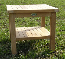 50cm Square Teak Coffee Table