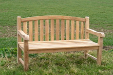 Aldeburgh Deluxe Curved Back 5ft Teak Bench