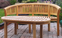 C&T Deluxe Banana Curved Teak Bench |FREE DELIVERY | Norfolk | Suffolk