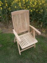 Multi position folding teak arm chair