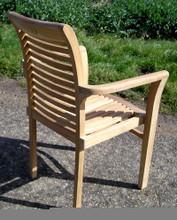 Lovina Teak Stacking Arm Chair