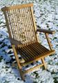 Deluxe Folding Teak Arm Chair