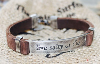"Tribal vibe ""live salty or die"" bracelet handmade in Peru."