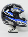 RZ80BG - DOT Full Face Blue Graphic Motorcycle Helmet