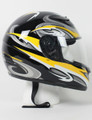 RZ80Y - DOT Full Face Yellow Graphic Motorcycle Helmet