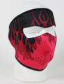 Face Mask - Red Flames Neoprene