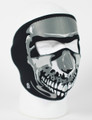 Face Mask - Chrome Skull Neoprene