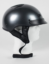 Black Chrome DOT Motorcycle Helmet
