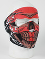 Face Mask - Red Tribal Skull Neoprene