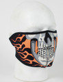 Face Mask - 1/2 Burning Skull Mask Neoprene