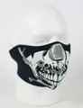Face Mask - 1/2 Chrome Skull Face Neoprene