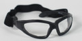 BIKER SUNGLASSES - GXR Sunglass, Black Frame, Anti-fog Clear Lenses