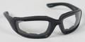 BIKER SUNGLASSES  - Foamerz 2 Sunglasses, Blk Frame, Anti-fog Clear, ANSI Z87