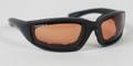 BIKER SUNGLASSES - Foamerz 2 Sunglasses, Blk Frame, Anti-fog Amber, ANSI Z87