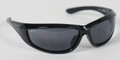 BIKER SUNGLASSES - Charger Sunglasses, Blk Frame, Anti-fog Smoked Lens, ANSI Z8