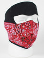 Face Mask - Red Paisley Bandanna Neoprene