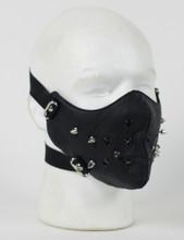 Face Mask - Punk Rivet Black