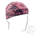 Skull Cap - Two-Tone Pink Paisley Flames Do-Rag Flydanna