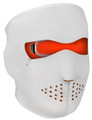 Face Mask - Orange/ White Neoprene