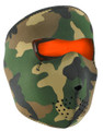 Face Mask - Orange/ Woodland Neoprene
