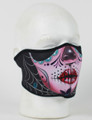 Face Mask - 1/2 Sugar Skull Neoprene Half  Face Mask