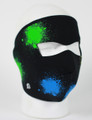 Face Mask - Glow in the Dark Splatter Neoprene