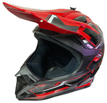 TV Dirt Bike MX Red Motorcycle Helmet
