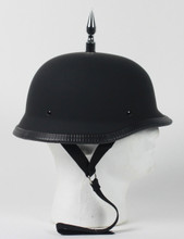 3 Inch Spiked German Flat Novelty Motorcycle Helmet
