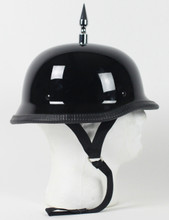 3 Inch Spiked German Gloss Novelty Motorcycle Helmet