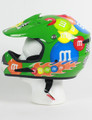 M&M Licensed Green MotoX Motorcycle Helmet